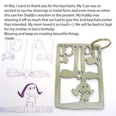 your child's drawing on jewelry - www.formiadesign.com   COULD THIS BE ANY COOLER???