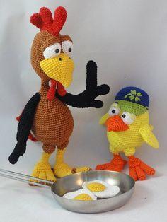 Amigurumi Crochet Pattern Set - Paul and Chuck