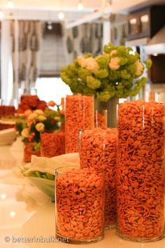 Goldfish and veggie bar...cute bridal shower idea!