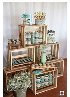 Planning your breakfast at tiffanys wedding shower party, here 25 ideas to copy 13 Baby Shower Themes, Baby Boy Shower, Baby Shower Decorations, Shower Ideas, Baby Decor, First Communion Decorations, Baby Shower Vintage, Rustic Baby, Rustic Wedding