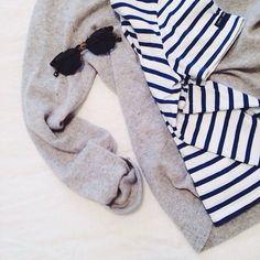 sunday crew: stripes, cashmere, tortoiseshell