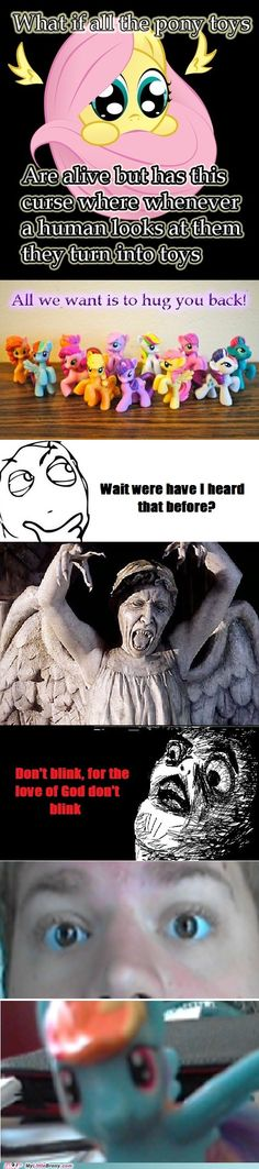 Weeping Angels In Pony Form? Oh no.... Dr. Whooves save us<----ON OUR WAY! KEEP UT EYES OPEN!!