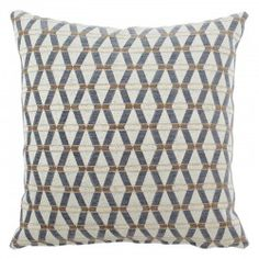 Dark Blue and Brown raised chenille texture with a geometric contemporary print.