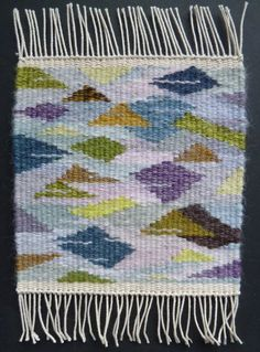 Helen Smith, weaving done and shared in Weaving Tapestry on Little Looms online course with Rebecca Mezoff. www.tapestryweaving.com