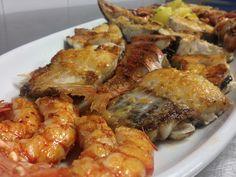 #Parrillada #pescado #marisco #Restaurante #LaCofradía #PuertodeVega #Asturias
