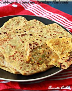 Healthy cabbage filled flatbread