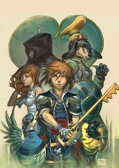 Kingdom Hearts by Nei Ruffino - Incredible Video Game Art