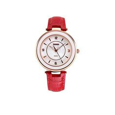 Simple Classic Leather Business Watch Women Casual Quartz Brand Luxury Watch Leather Business Watch Red -- Check out the watch by visiting the link.