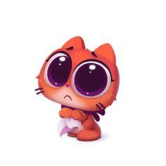 Набор стикеров для Telegram «Котёнок Таффи» 2d Game Art, Portrait Cartoon, Cat Coloring Page, Style Japonais, Cute Games, Mascot Design, Game Character Design, Cute Animal Drawings, Cute Characters