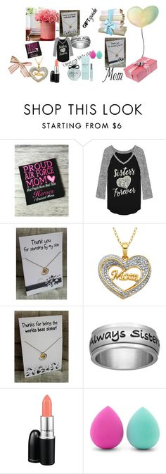 """love my sister and mom <3"" by zeineb2108 ❤ liked on Polyvore featuring Fifth Sun, MAC Cosmetics, Forever 21, Kate Spade and giftguide"