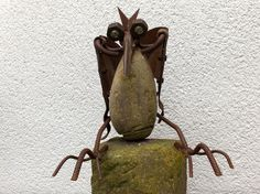 DRACHE aus Stein und Metall - Märchenfigur von Kreative Skulpturen auf DaWanda.com