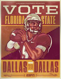 ESPN - College Football Campaign Posters on Behance