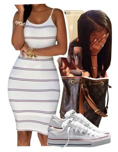 """""""1286"""" by ashley-mundoe ❤ liked on Polyvore featuring Louis Vuitton and Converse"""