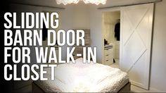 DIY : Sliding barn door / Skyvedør - YouTube
