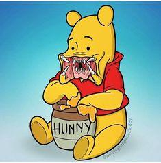 Ed Harrington Illustrations and Comics: Photo Zombie Cartoon, Zombie Disney, Cartoon Art, Trippy Drawings, Disney Drawings, Horror Drawing, Cute Winnie The Pooh, Mickey Mouse Art, Horror Artwork