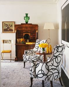 Nate Berkus Design... Love the black & white chairs!!! WOWZERS!!!