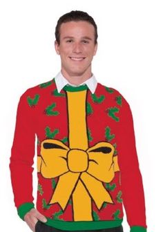 bad christmas jumpers -wrap me up and rip me open