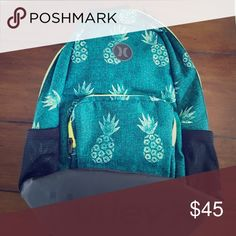Brand new Hurley backpack, Renegade. Tags still attached. Pineapple printed Renegade Hurley Backpack Hurley Bags Backpacks