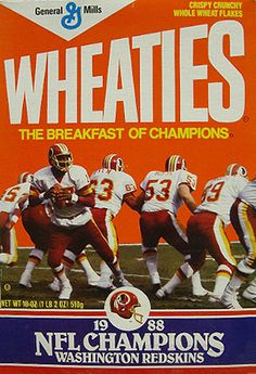 I haven't seen Wheaties in stores in a long time! This box is pretty old, but it's also pretty awesome.