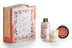 Go Be Lovely: Grapefruit Oleander Lather In Love Bath Set