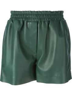 Shop designer short shorts for women at Farfetch for styles from Off-White, Prada, Phillip Lim and more. Pleated Shorts, Studio S, Green Shorts, Acne Studios, Elastic Waist, Outfit Essentials, Boutiques, Polyvore, Swimwear