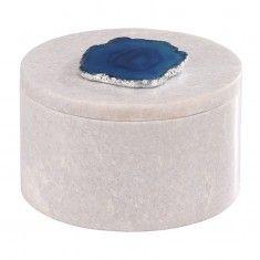 Dimond Antilles Round Box w/ Blue Agate