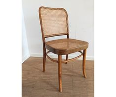 Spisebordsstol, Mørkt træ og flet, Fire stole i klassisk