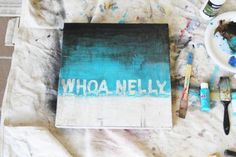 DIY Distressed Painting Tutorial