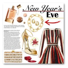 """NYE Dance Party"" by jessinerio4l ❤ liked on Polyvore featuring Chloé, Zuhair Murad, Michael Kors, Dolce&Gabbana, Michael Aram, Edie Parker, Lumière, Zoya and nyestyle"