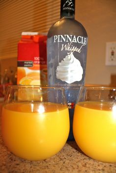 Creamsicle -OJ and Whipped Cream Flavored Vodka.