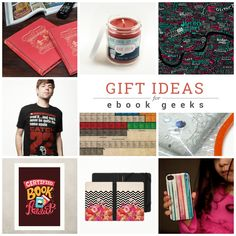 Gifts every ebook geek would love to get: personalized e-reader covers, literary maps or posters, or a literary apparel.