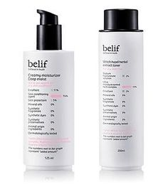 KOREAN COSMETICS, LG Household & Health Care_ belif, 2-piece set for dry skin (Witch Hazel Herbal Extract Toner 200ml + Creamy Moisturizer Deep Moist 125ml) (for dry skin, moisturizing, nutrition supply)[001KR] by belif. $134.00. Note to the first users : If you have  not used this item before, try the cosmetic with small amount on your skin. If you find any trouble with the product, please stop using and discuss with your skin expert or doctor. If you have any allergy or ...