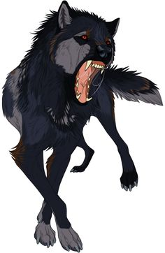 Drake a wolf that is grumpy and a bit mean no mate and does not want one eaither a member in the river pack Anime Wolf, Fantasy Wolf, Fantasy Art, Fantasy Creatures, Mythical Creatures, Wolf Hybrid, Wolf Character, Demon Wolf, Wolf Spirit Animal