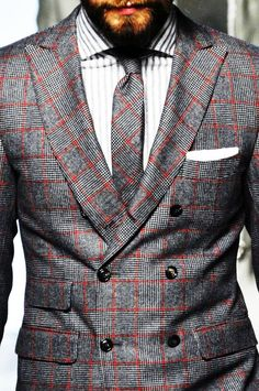 Cool suit. |  Gray and red