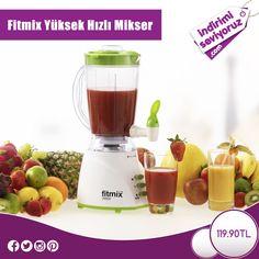 Fitmix Yüksek Hızlı Mikser ile harika içecekler hazırlamanın keyfini yaşayın... #indirimiseviyoruz #indirim #Fitmix