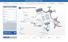 Massport - Logan Airport Interactive Maps by David Lally, via Behance