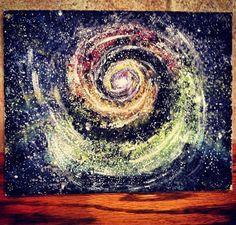 Galaxy painting. Acrylics.