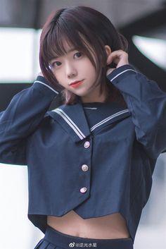 逆光水星:ʟᴏᴠᴇ ᴘᴏᴇᴍ 🤍 Japanese School Uniform Girl, School Girl Japan, School Girl Outfit, Japan Girl, Asian Cute, Cute Asian Girls, Cute Girls, Beautiful Japanese Girl, Beautiful Asian Girls