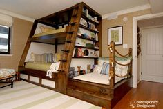 "DIY Triple Bunk Bed Ideas # ""Bunk Bed Designs""DIY Triple Bunk Bed Ideas # ""Bunk Bed wonderful ideas for a bunk bed for your children's roomSave space and stay trendy with Triple Bunk Beds Full Size Bunk Beds, Bunk Beds Small Room, Triple Bunk Beds, Modern Bunk Beds, Cool Bunk Beds, Kids Bunk Beds, Loft Beds, Adult Bunk Beds, Bunk Bed Ideas For Small Rooms"