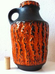 Carstens Tönnieshof Lava Vase 26cm wgp keramik 60s 70er 70s panton eames ära pop