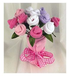Baby Socks Bouquet Girls Baby Socks Flower Bouquet Baby Socks Flowers Baby Washcloth Flowers