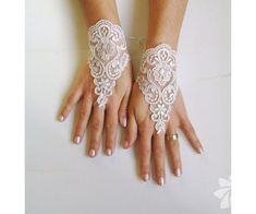 Very pale beige plum Lace glove free ship wedding prom party bridesmaid gift gothic wedding lace gauntlets bridal cuff lace wedding Beige Wedding, Gothic Wedding, Wedding Day, Wedding Hands, Just In Case, Just For You, Bridal Cuff, Bridal Bolero, Lace Gloves