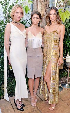 Amber Valletta, Emily Ratajkowski & Alessandra Ambrosio - Net-a-Porter's Pre-Oscar Lunch at the Chateau Marmont - February 26, 2016