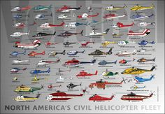 Helicopter Fleet Poster