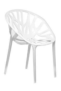 Premier Housewares Stuhl Nido, 2 Stück weiß