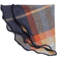 The Winters Plaid Wool Round Handkerchief