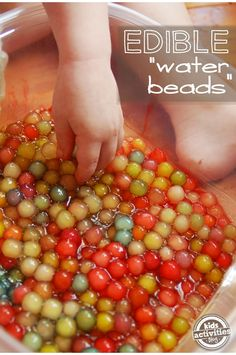 bubble tea water beads - great for kids with sensory play and also for weight gain after sickness!