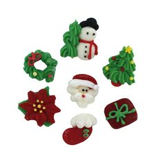 Royal Icing Christmas Assortment (168 pieces) Edible Decorations, Sprinkles & Glitters