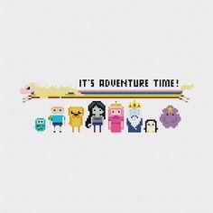 Adventure Time Cross Stitch Pattern PDF by pixelsinstitches