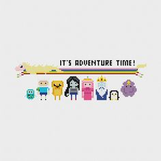 Adventure Time Cross Stitch Pattern PDF by pixelsinstitches